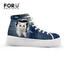 Denim Shoes Platform Top