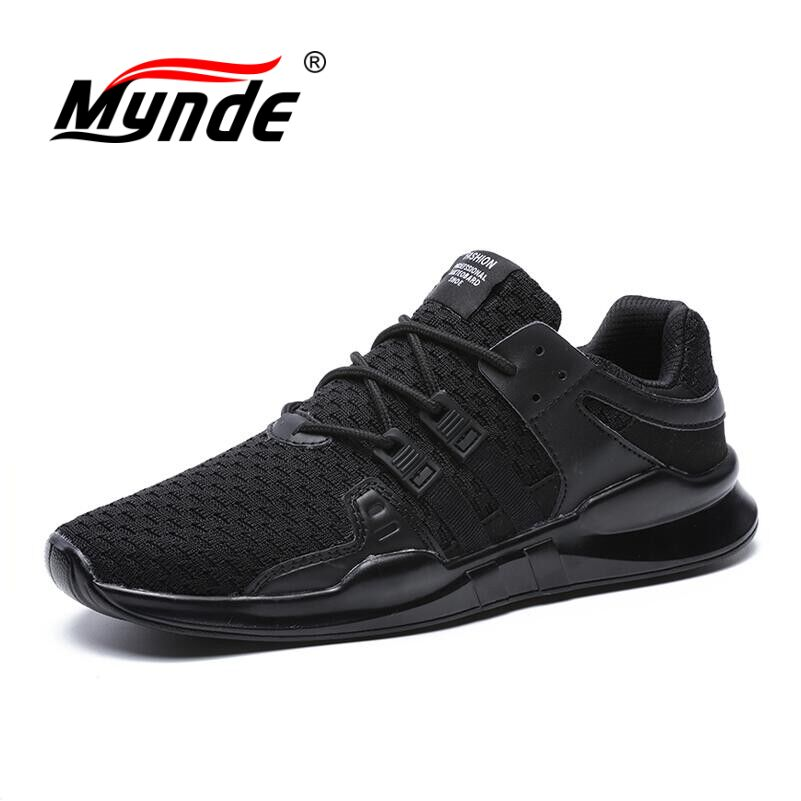 MYNDE 2018 New Men's Mesh Breathable Running Shoes Male Shoes Men sneakers Lace Up Comfortable Shoes Women Lovers Sport Shoes new running shoes for men 2017 outdoor breathable mesh light flat shoes comfortable sneakers athletics women lovers sport shoes
