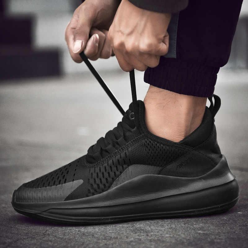 POLALI Мужская обувь для взрослых Весна повседневные мужские кроссовки Flyknit пот-абсорбент модная мужская прогулочная обувь
