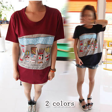 NEW ARRIVAL 2013 summer women's m8201 casual all-match loose short-sleeve T-shirt  FREESHIPPING