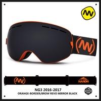 NANDN Brand Ski Goggles Double UV400 Anti Fog Ski Glasses Mask Skiing Men Women Snow Eyewear Snowboard Goggles Exchangeable Lens