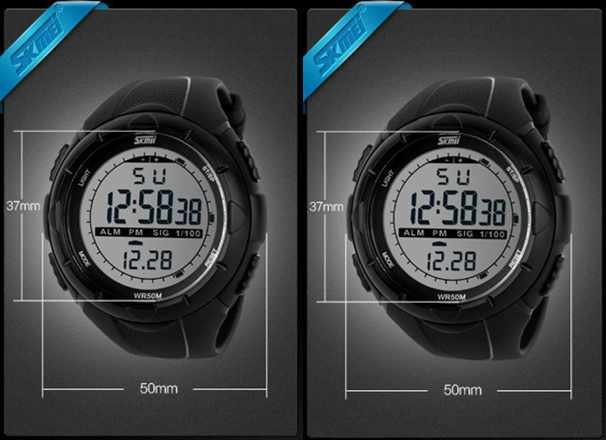 18 New Skmei Brand Men LED Digital Military Watch, 50M Dive Swim Dress Sports Watches Fashion Outdoor Wristwatches 17