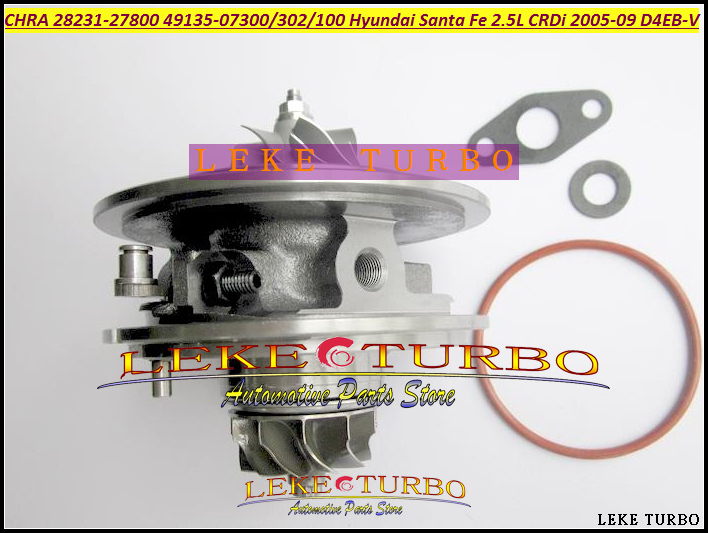 Turbo Cartridge CHRA TF035 49135-07300  49135-07301 28231-27800 Turbocharger For HYUNDAI Santa Fe CRDi 2005-09 D4EB D4EB-V 2.2L