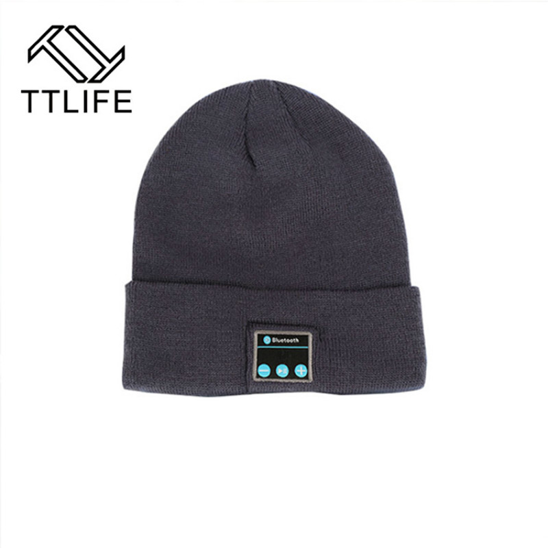 TTLIFE 2017 New Soft Warm bluetooth hat Wireless Smart Cap Headset Headphones with Mic Handfree Men Women Sports Hat for xiaomi hot sale ttlife smart bluetooth 4 1 earphone upgraded wireless sports headphone portable handfree headset with mic for phones