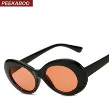 Peekaboo cheap plastic sunglasses oval men male red white su