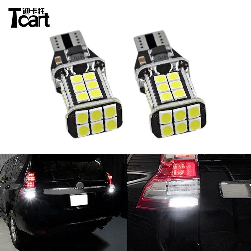 Tcart Car LED Tail Reversing Bulbs Canbus T15 Auto Led Reverse font b Lamps b font