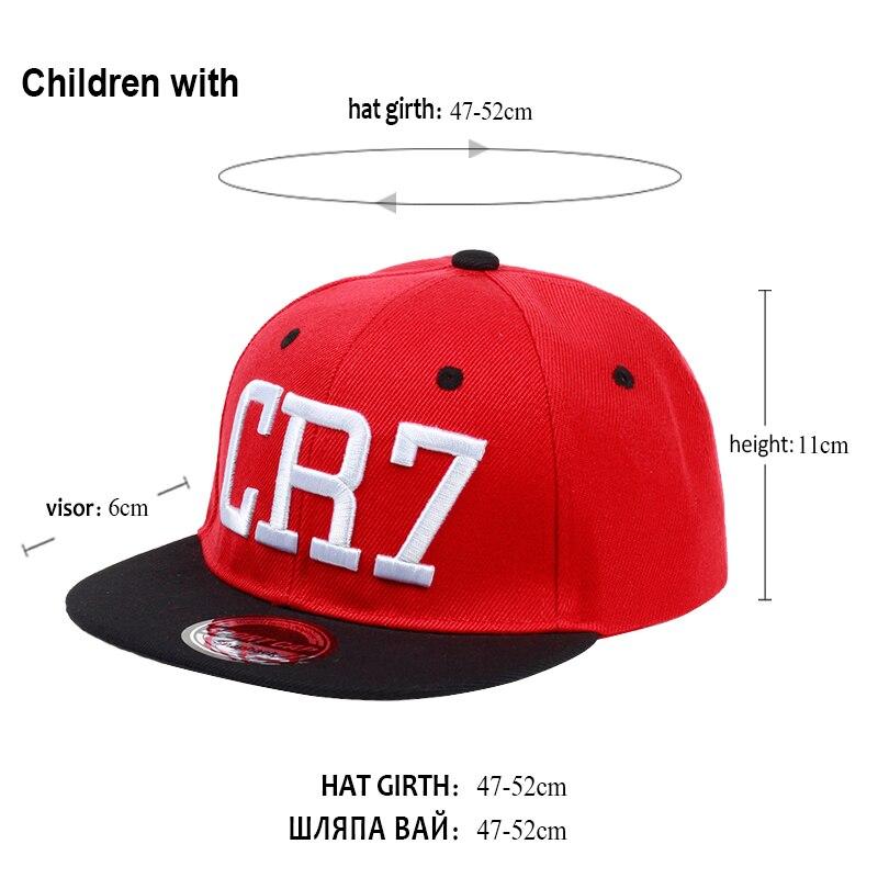 a05049ce06699 2017 Brand Children Soccer Star Ronaldo CR7 Embroidery Kids Baseball ...