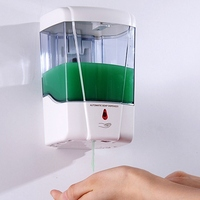 1pc 700ml Automatic Sensor Bathroom Liquid Soap Dispenser Touchless Wall Mounted Kitchen Detergent Bath Shampoo Lotion