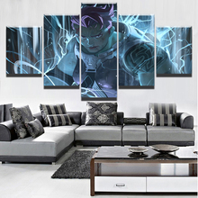 5 Panel Game Poster Home Decorative Overwatch Zarya Wall Decor Canvas Picture Art HD Print Painting On For Living Room