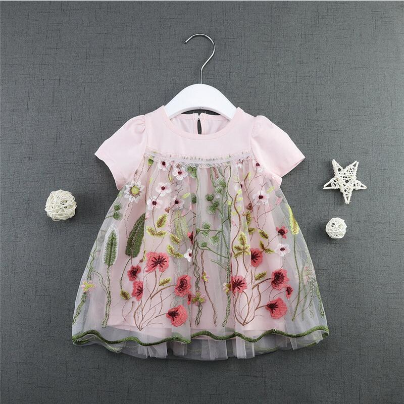 Baby Dresses 2018 New Brand Summer Cotton Infant Dress Flower Toddler Girls Clothes For 1st Birthday Dress Kids Costume vestidos