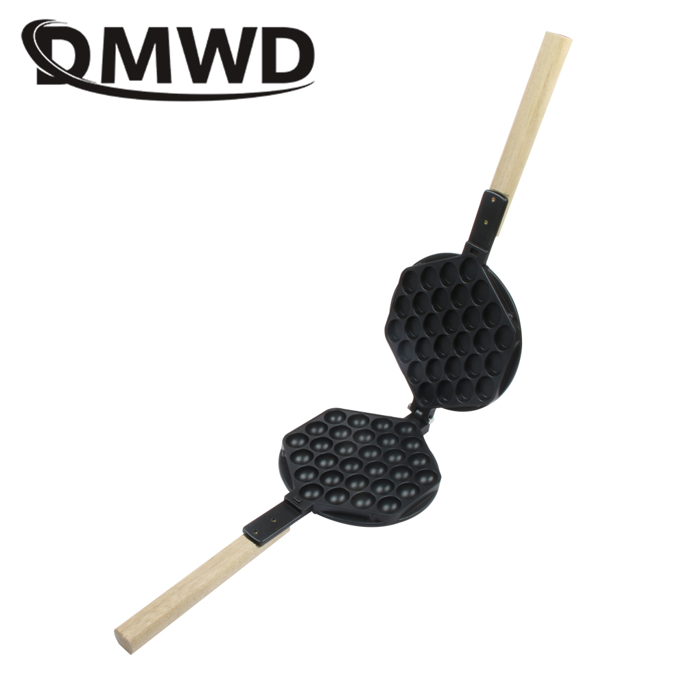 DMWD Commercial eggs bubble baking pan iron hongkong waffle mould Eggettes roller mold Non-stick Plate for gas electirc machine free shipping non stick pastry egg tart waffle mold plate tartaletek baking plate to replace for tartlet shells machine