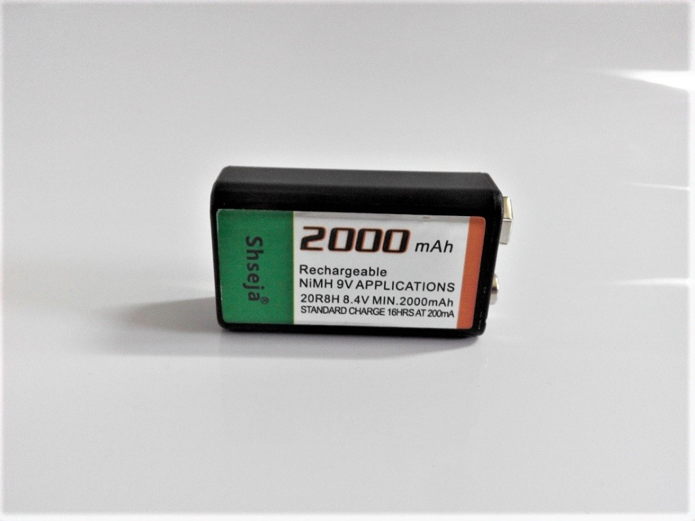 NEW 1PCS Large-capacity 2000mAh 9V rechargeable battery 9 volt Ni-MH battery for Microphone