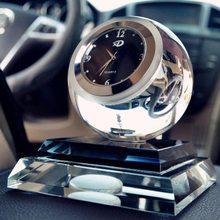Crystal Ball Automotive Interior Accessories Glass Creative Clocks & Perfume Decoration For Car Home Office Car Ornaments