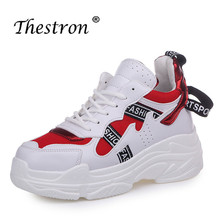 Thestron 2019 New Thick Soled Running Trainers Women Breathable Shoes Jogging Walking Sneakers Girls Soft Sports