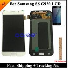 כיתה AAA סופר AMOLED לסמסונג S6 LCD תצוגת S6 G920F עבור Samsung S6 G920 תצוגת LCD מסך מגע Digitizer הרכבה