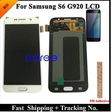 الصف AAA سوبر AMOLED لسامسونج S6 شاشة الكريستال السائل S6 G920F لسامسونج S6 G920 عرض LCD شاشة مجموعة رقمنة اللمس