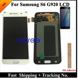 Image 1 - الصف AAA سوبر AMOLED لسامسونج S6 شاشة الكريستال السائل S6 G920F لسامسونج S6 G920 عرض LCD شاشة مجموعة رقمنة اللمس