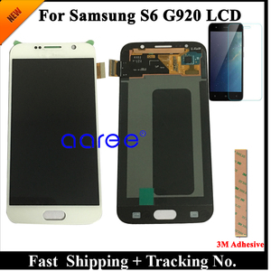 Image 1 - Grade AAA SUPER AMOLED For Samsung S6 LCD Display S6 G920F For Samsung S6 G920 Display LCD Screen Touch Digitizer Assembly