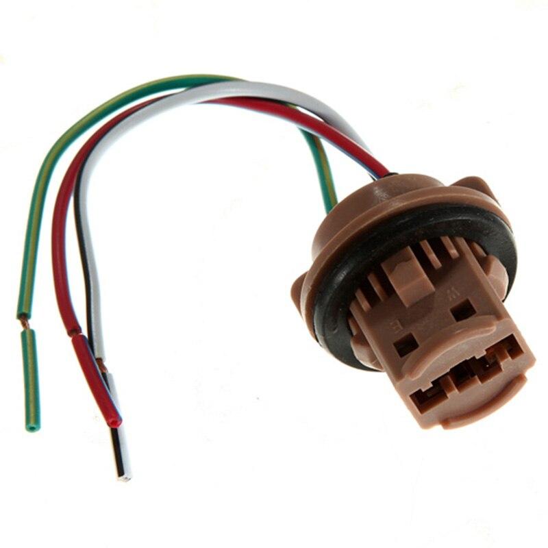 Mayitr 2Pcs T20 7440 7443 LED Car Light Bulbs Holder Socket Plug Adapter Wiring Harness Connector Car Styling