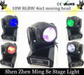 New Seer 10W RGBW 4in1 moving head DMX512 light beam LED spot Lighting Show Disco DJ Laser Light