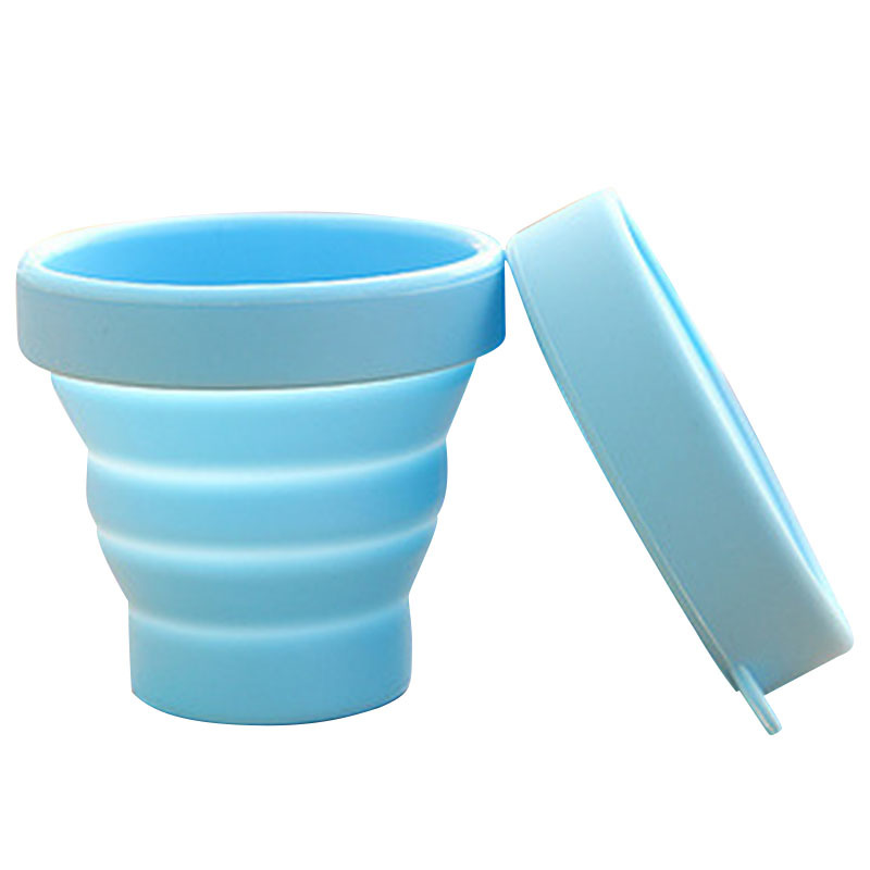 Outdoor tableware New Portable Silicone Retractable Folding Water Cup Travel Camping Telescopic Collapsible Soft Drinking Cups keith pure titanium double wall water mugs with folding handles drinkware outdoor camping cups ultralight travel mug 450ml 600ml