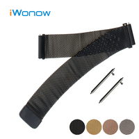Milanese Loop Stainless Watch Band 22mm For Ticwatch 1 46mm Magnetic Buckle Strap Quick Release Wrist