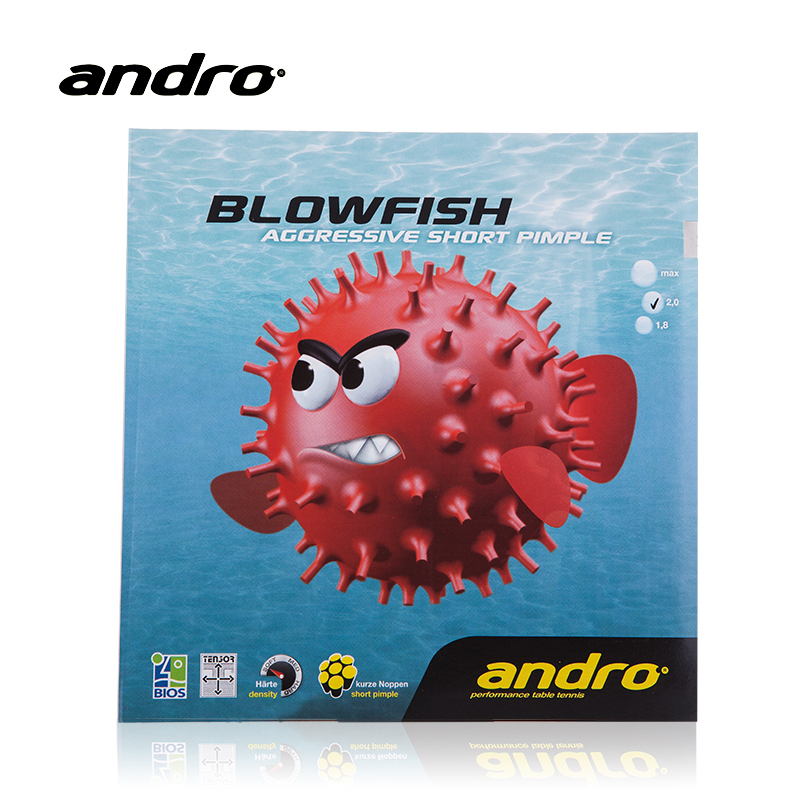 Andro BLOWFISH Pips-out Table Tennis Rubber Ping Pong Pimples Out With Sponge Tenis De Mesa jupiter бра jupiter laura 516 la k