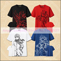 Anime Fate Comic drawing t shirt Tohsaka Rin Emiya Shirou Cosplay Costume Men t shirt 4 colors in S-XXL stocking free shipping