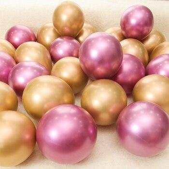 30/50/100 Uds. 10 pulgadas de látex cromado Globos para fiesta de boda decoración Globos rubí rojo perla gruesa globo metálico de látex accesorios de helio