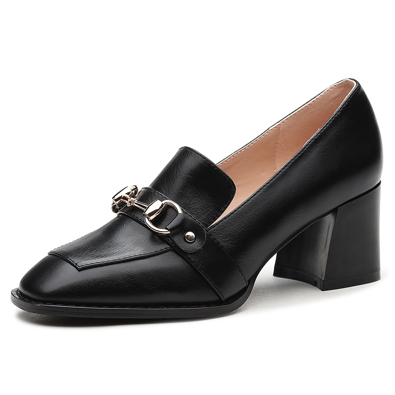 ФОТО Women's Summer 2017 Black Casual Square Toe Height Increase High Heels Office Work Party Travel Walk Dress Lady Girl Pumps Shoes