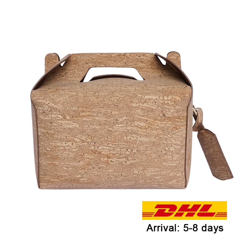 KAOGE Vegan Luxury Lunch Bag Handmade Natural Cork Vintage Handbags Cake Crossbody Bag waterproof Shoulder Bags electric lunch box double layer stainless steel liner cooking lunch boxes multifunction plug in lunch box steamed rice steamer