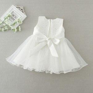 Image 3 - 2 adet/takım kız bebek elbisesi 3 24 ay bebek resmi elbiseler doğum günü ve düğün vaftiz önlükler vaftiz giysi TS46