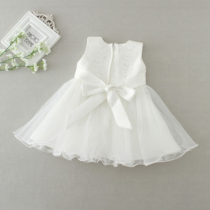 Image 3 - 2pcs /Set Baby Girl Dress 3 24 Months Infant Formal Dresses For Birthday&Wedding Occasion Christening Gowns Baptism Clothes TS46