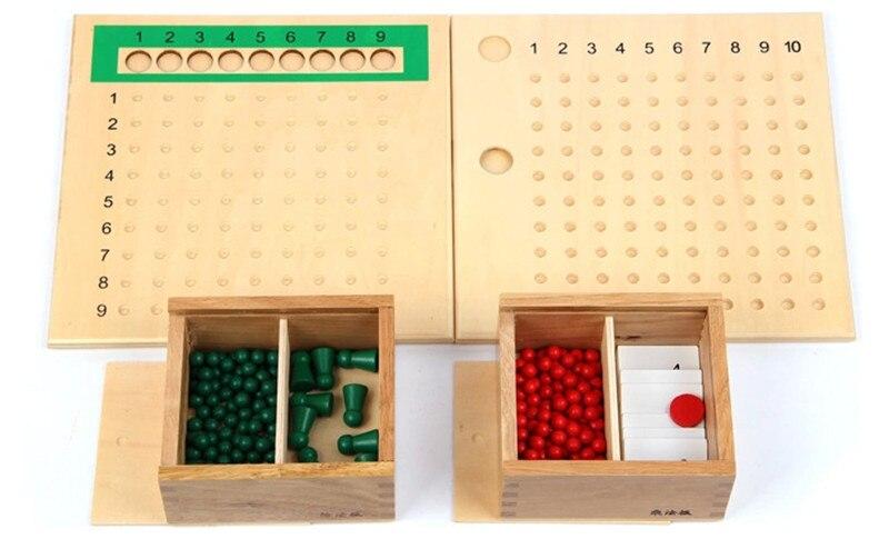 Nouveau bébé jouet Montessori Multiplication perle conseil et Division perle conseil pour l'éducation de la petite enfance préscolaire formation jouet