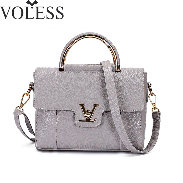 2018 V Letters Saffiano Handbags Women Leather Commuter Office Ring Tote Bag S Pouch Bolsas Famous