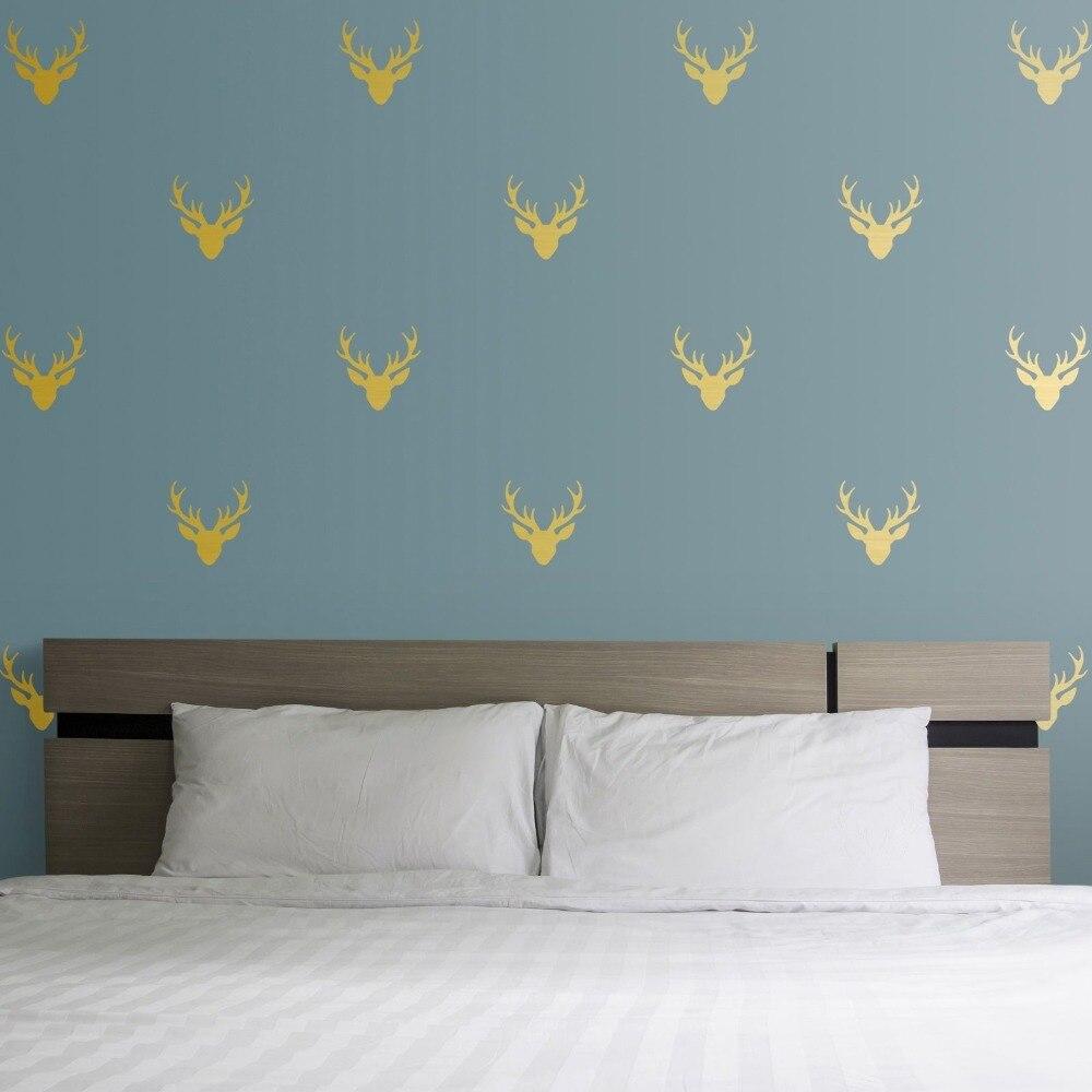 Eco friendly Vinyl Kids Room Wall Sticker Little Deer Head ...