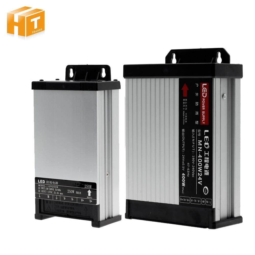 LED Outdoor Regen Netzteil AC190-240V DC12V/DC24V 60 W 100 W 200 W 250 W 400 W LED fahrer Beleuchtung Transformatoren