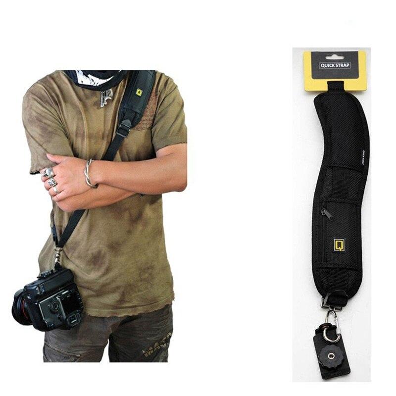Professional Black Light Quick Shoulder Belt Strap for SLR DSLR Camera For Canon Sony Nikon Olympus
