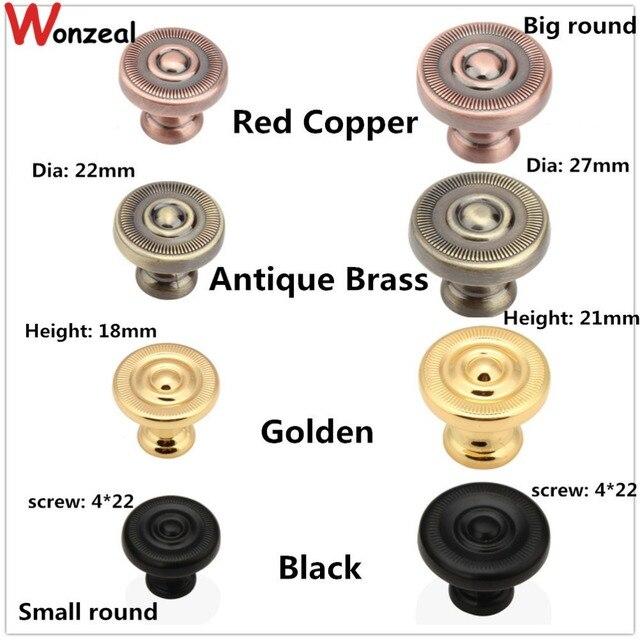 dia 22mm 27mm black golden antique brass red copper color zinc