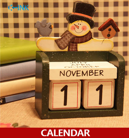 New Home Decorative Desk Calendar , Four Seasons Wooden Craft Universal Calendar , Perpetual calendar , DIY wooden calendar