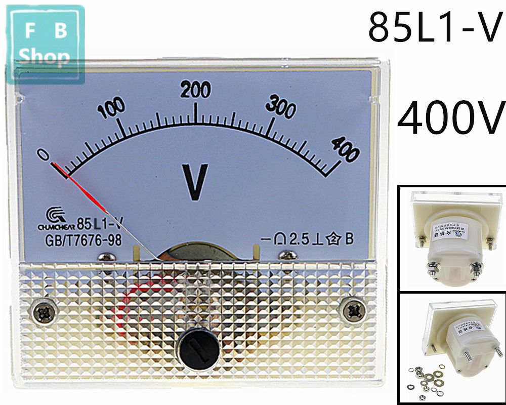 1 PC AC 0-400V Analog 85L1 Voltage Analogue Panel meter Directly connected
