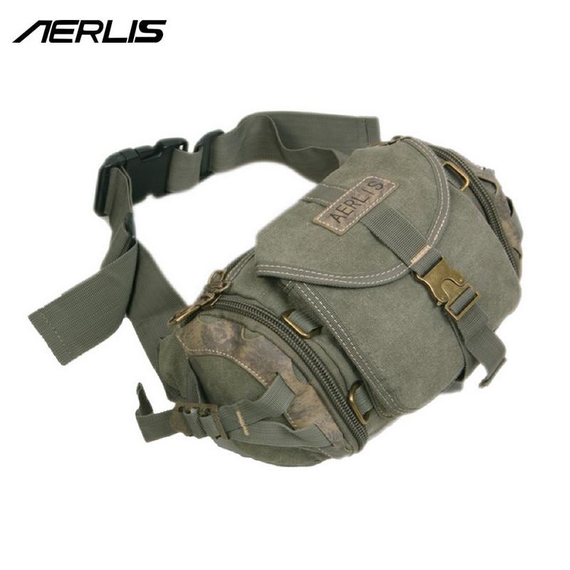 Aerlis marque Design hommes Messenger Crossbody sacs décontracté voyage solide toile mâle épaule sac à bandoulière fermeture éclair rabat taille Pack A3270