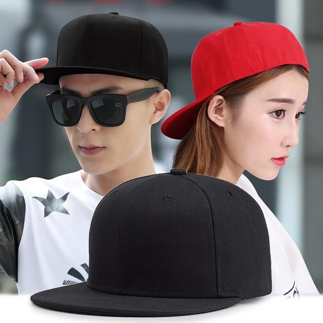 Janvancy Solid Fitted Baseball Cap Mens Women Hip Hop Hats Steampunk Flat  Bone Snapback Red Black 8e31fecc19b