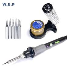 WEP 947-V Kit 60W Soldering Iron Temperature Adjustable LED Light Portable Min Electric Soldering Iron Desoldering Tool