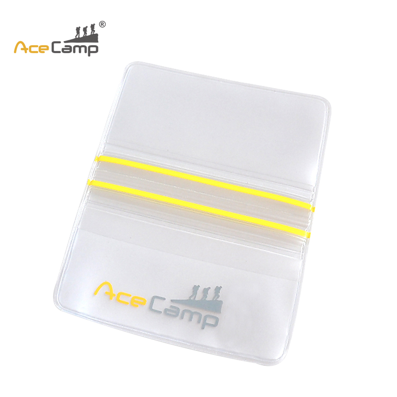 AceCamp Waterproof Credit Card Holder Transparent Cardholder Transparent Passport Holder ...