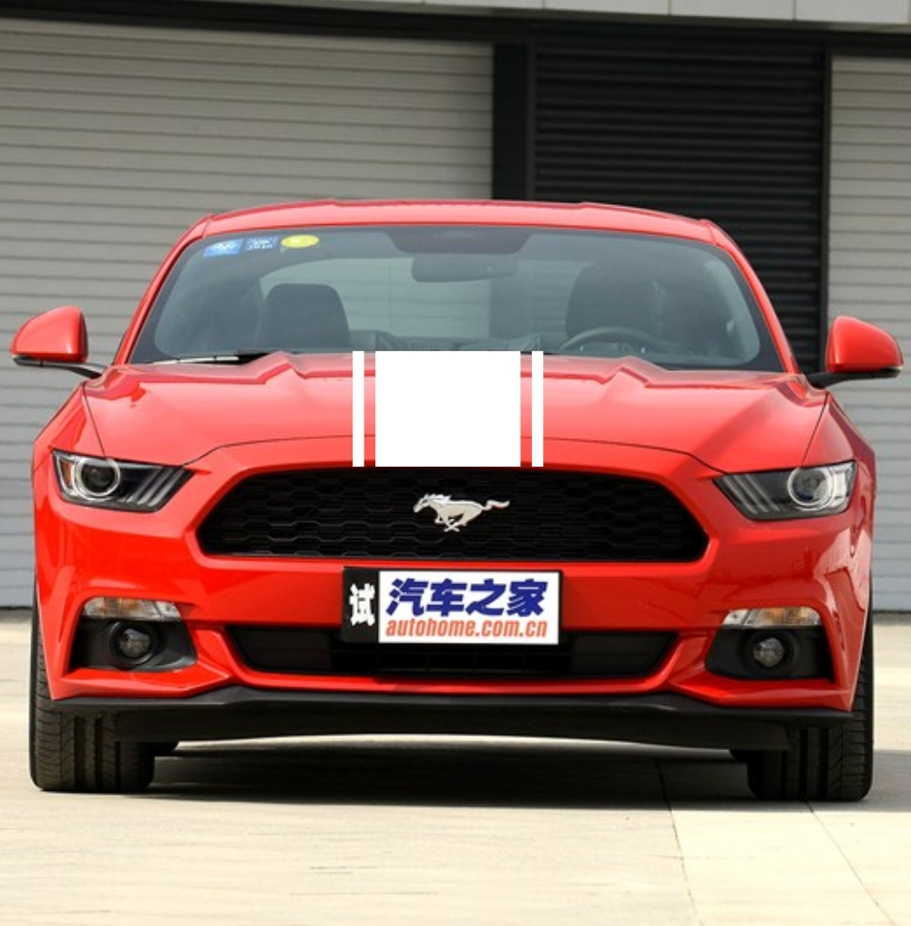 Car design sticker stripes - Car Dual Racing Stripes Vinyl Decal Stickers Front Hood Decal For Mustang 938 China