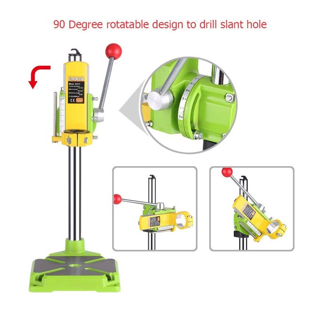 Electric Power Drill Press Stand Table Workstation Drill Workbench