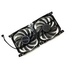 2pcs/set 4Pin CF 12915S GPU Cooler Fan VGA Card Fan For InnoVISION INNO3D Graphics Video Cards Cooling as Replacement