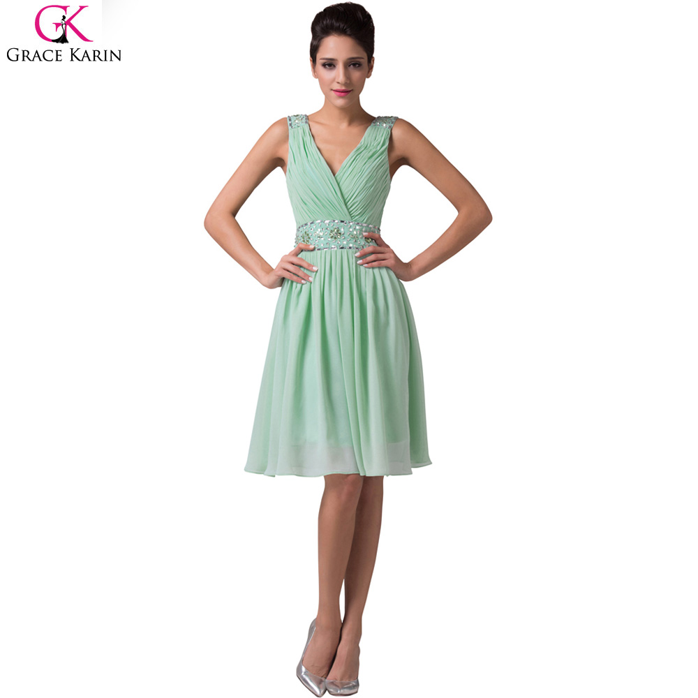 Grace karin mint green bridesmaid dresses short chiffon cheap grace karin mint green bridesmaid dresses short chiffon cheap sequin bridesmaid dresses under 50 wedding party dress 6104 in bridesmaid dresses from ombrellifo Gallery