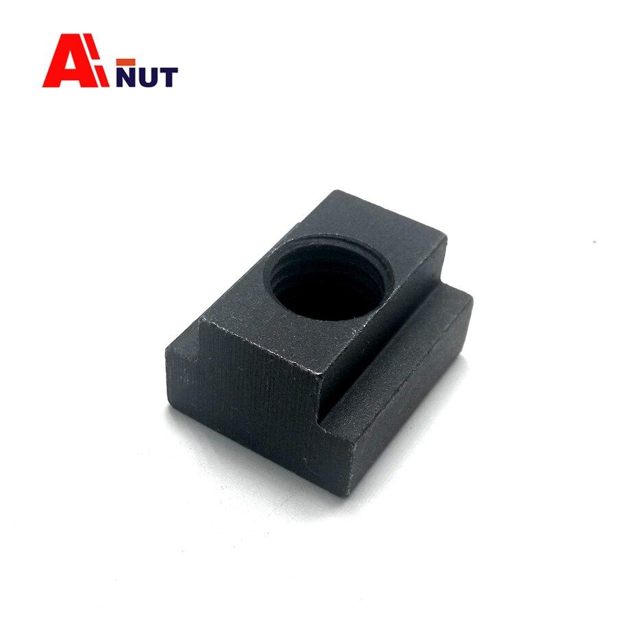 M8 M10 M10 T-Nut 5 St/ück Mutter Gewinde Kohlenstoffstahl Schwarz Oxid Finish Gewinde Nutensteine Stahl Werkzeug